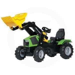 Rolly Toys Tracteur à pédales avec pelle et pneus gonflables