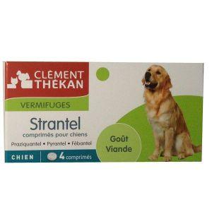 Clément Thékan Strantel - Vermifuge chien goût viande (4 comprimés)