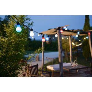 Lealight Guirlande LED globes tricolores - 12 V - 9 m