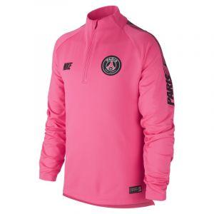 Nike Haut de football à manches longues Paris Saint-Germain Dri-FIT Squad Drill pour Enfant plus âgé - Rose - Taille L
