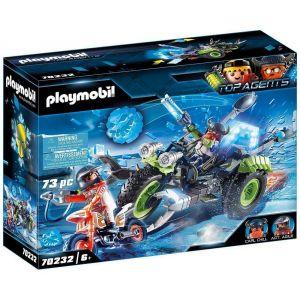 Playmobil TOP AGENTS Figurine moto des neiges Rebelles Arctiques 70232