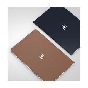 Oxford Pocket Notes agrafé - couverture carte - 9 x 14 cm - 48 pages - ligné 6 mm - chocolat et noir - lot de 2