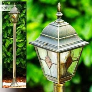 Hofstein Lampadaire extérieur Antibes composé d'une lampe - Réverbère classique qui agrémentera élégamment jardins et allées - Luminaire jardin aux finitions soignées