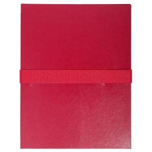 Exacompta 2644E - Chemise à dos extensible balacron, à sangle velcro, coloris bordeaux