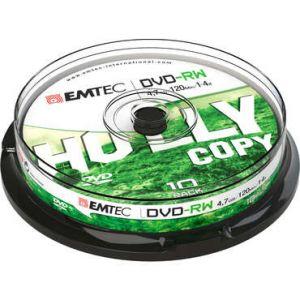 Emtec ECOVRW47104CB - Pack 10 DVD-RW 4,7 Go 4X