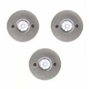 Arev Lot de 3 spots Encastrable IP65 basse tension pré-cablés
