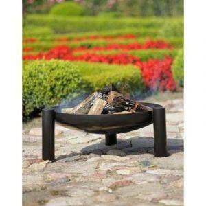 Cook'in Garden Brasero en acier peint 3 pieds et poignées 80 cm