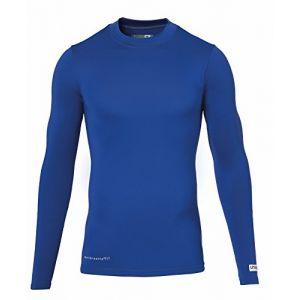 Uhlsport Baselayer Distinction - Maillot à manches longue - Homme - Bleu (Royal) - Taille: XL