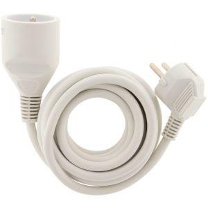 Zenitech Prolongateur 16A HO5VVF 3G1,5mm² Blanc 3m
