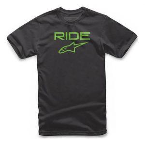 Alpinestars Tee-shirt Ride 2.0 noir/vert - XXL