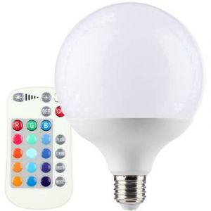 Müller Licht Ampoule LED E27 400353 en forme de globe 10 W = 60 W RVBB (Ø x L) 120 mm x 156 mm EEC: classe A+ à couleur