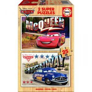 Educa Puzzle en bois Disney Cars (2 x 25 pièces)