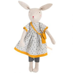 Moulin roty Peluche Lapin Maman Rose La Famille Mirabelle