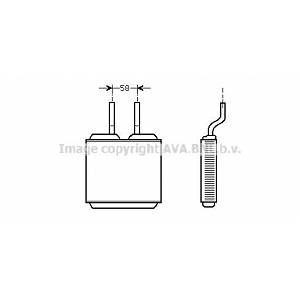 Ava Quality Cooling Radiateur de chauffage OPEL COMBO, OPEL TIGRA, OPEL CORSA, OPEL FRONTERA (247OL6197)