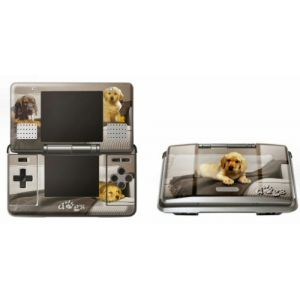 Pebble Skin Beige Dog Graphic Nintendo DS