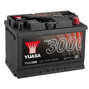 Yuasa SMF Batterie Auto 12V 75Ah 650A YBX3096 12V 75Ah 650A SMF Battery 278 x 175 x 190 mm + D