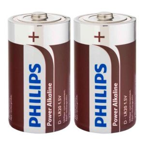 Philips Power Life 2 piles D (LR20)