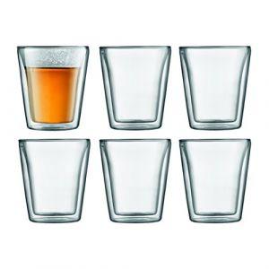 Bodum Canteen - Set de 6 Verres Double Paroi Transparent 0,2 L 18,9 x 28 x 10,8 cm ( 10109-10-12 )