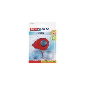 Tesa Film Crystal 2 rouleaux 10m x 19mm + 1 Mini Dérouleur