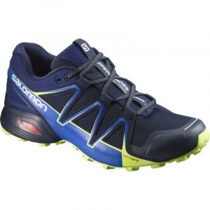 Salomon Homme Speedcross Vario 2 Chaussures de Trail Running, Bleu (Navy Blazer/Nautical Blue/Lime Punch), Taille: 45 1/3