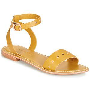 Vero Moda Sandales LOUISA LEATHER jaune - Taille 36,37,38,39,40,41