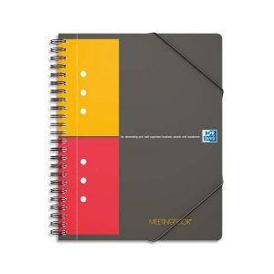 Oxford 100102104 - Cahier Meetingbook rel. intégrale A5+ 160 pages 80g/m², petits carreaux, avec chem. intégrée