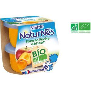 Nestlé Compotes bébé bio pomme pêche abricot 2 x 115 g - dès 6 mois