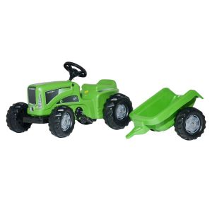 Rolly Toys Tracteur à pédales Rolly Kiddy Futura avec remorque