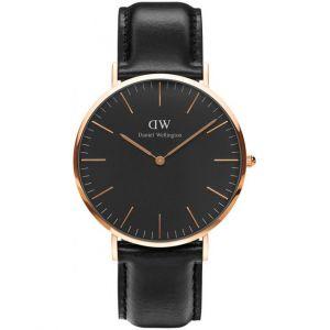 Daniel Wellington DW00100127 - Montre pour homme avec bracelet en cuir