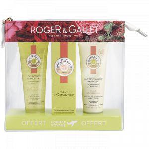 Roger & Gallet Trousse Fleur d'Osmanthus - Gel douche, eau parfumée bienfaisante et lait hydratant
