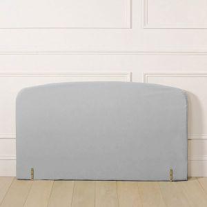 Housse pour tête de lit polycoton, forme galbée Gris Perle Taille 160x85 cm;90x85 cm;140x85 cm