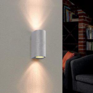 Silamp Applique Murale Argent LED IP44 double faisceau GU10