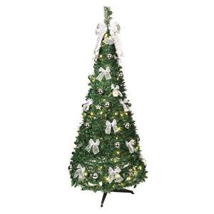 Best Season Arbre de Noël LED décoré argent (180 cm)