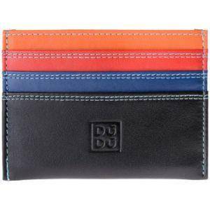 Dudu Portefeuille Porte cartes de crédit coloré en cuir Nappa de vachette 6 fentes
