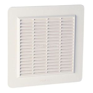 Nicoll Grille façade carrée applique mousti. 150cm² blanc, sachet 1GAPM4B -