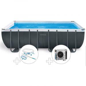 Intex Kit piscine tubulaire Ultra XTR Frame rectangulaire 5,49 x 2,74 x 1,32 m + Kit d'entretien + Pompe à chaleur