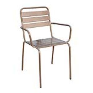 Chalet et Jardin 2 fauteuils de jardin empilables Haut Nomade en acier