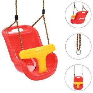 VidaXL Balançoire pour bébé avec ceinture de sécurité PP Rouge