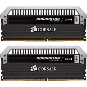 Corsair CMD8GX4M2B3000C15 - Barrette mémoire Dominator Platinum 8 Go (2x 4 Go) DDR4 3000 MHz CL15
