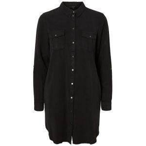 Vero Moda Robe chemise en jean, boutonnée Noir - Taille L;M;S;XL;XS