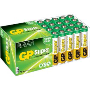 GP Batteries GP Super Alkaline Multipack - Pack de 40 batteries AAA