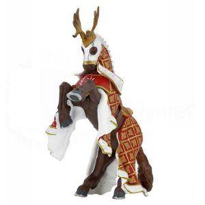 Papo Figurine Cheval du maître des armes cimier cerf