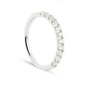 Rêve de diamants 3612030068140 - Alliance en or blanc sertie de diamants