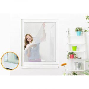 Empasa Moustiquaire auto-agrippante élastique pour fenêtre - 130 x 150 cm Blanc - Neuf