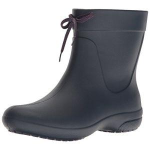 Crocs Freesail Shorty Rain Boots, Femme Bottes, Bleu (Navy), 34-35 EU