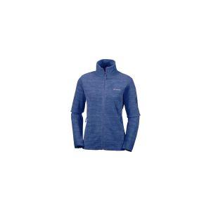 Columbia Polaire Zippé pour Femme, Fast Trek Printed Jacket, Polyester, Bleu Marine (Nocturnal Spacedye), Taille: S, EL1012