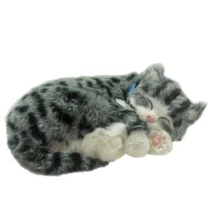 Perfect Petzzz Peluche interactive Chat Tigre gris 25 cm