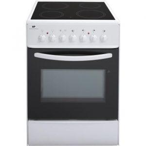 Continental Edison CVMC6060W - Cuisinière vitrocéramique 4 foyers