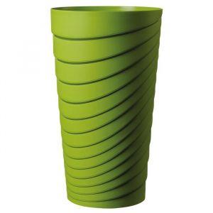 Deroma Pot Alto Slinky - 35x35x60 cm - 42L - Vert - Plastique injecté - Résistant au gel - Résistant aux UV - Recyclable - Bouchon préformé