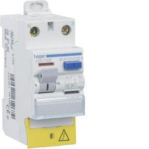 Hager CDC742F - Interrupteur différentiel 2P 40A 30MA